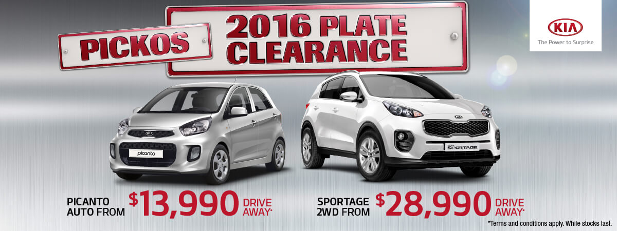 2016 Plate Clearance